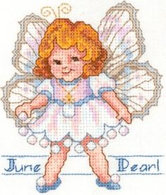 Birthstone Fairies - June - Pearl