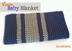 Liam Baby Blanket - free crochet pattern