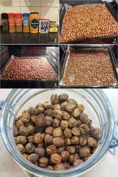 Garbanzos especiados y horneados (Snack de garbanzos)