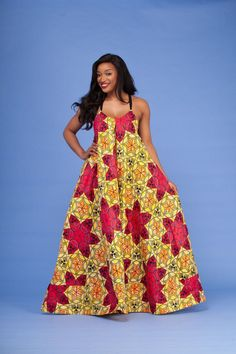 Yassa African Print Maxi Dress