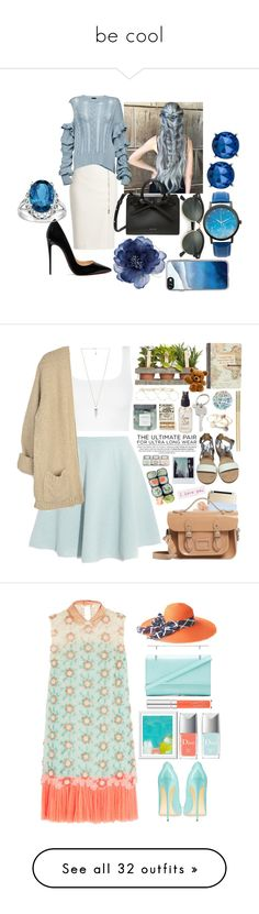 """""""be cool"""" by rabbitzzfashion ❤ liked on Polyvore featuring MaxMara, Magda Butrym, Christian Louboutin, Ray-Ban, Accessorize, Casetify, Kenneth Cole, Toast, Sonia by Sonia Rykiel and Topshop"""