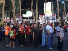 LAS VEGAS -- Members of the Culinary Union Local 226 and Bartenders Union Local 165 rallied outside the Cosmopolitan Wednesday afternoon.  This is the fourth time this year that union members have protested outside the Strip property. The union was joined by members of the California School Employees Association.