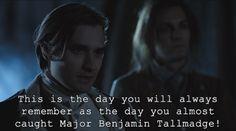 Ben Tallmadge / Jack Sparrow. HAHAHAHA!! ❤️ #SethNumrich