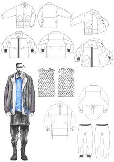 Fashion Portfolio - fashion illustration; fashion design drawings; fashion sketchbook // Georgia Mottershead