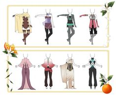 Adoptable Outfit Set 21 - OPEN by Orangenbluete on DeviantArt
