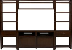 """Tyler 60"""" Media Console with Two Towers and Bridge in Media Centers   Crate and Barrel"""