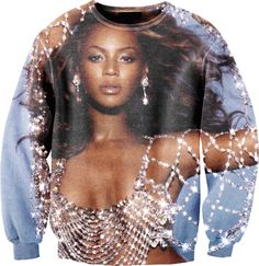 new fashon men/women's sweatshirt graphic print character Beyonce Giselle Knowles sweatshirt crewneck pullover hoodie Sexy Girl, Celebrity Outfits, Printed Sweatshirts, Hoodies, Swagg, Blue Tops, Cute Outfits, My Style, Clothes