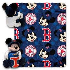 Boston Red Sox Fleece Throw 40 x 50 Disney Hugger Blanket