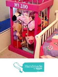 toy box - stuffed animal zoo - stuffed animal storage - toy storage - my zoo - toy organization - kids room decor - Christmas present - Christmas gift - gift for children - zoo for stuffed animals from S and J Bargain Vault http://www.amazon.com/dp/B016DRGPXE/ref=hnd_sw_r_pi_dp_09xkwb0AA5EN2 #handmadeatamazon