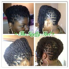 Loc Updo  Call (803)-237-1894  or  Book Online at: www.styleseat.com/theknottyspot  www.theknottyspot.com www.facebook.com/theknottyspot