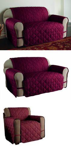 Slipcovers 175754: Ultimate Furniture Protector Pet Slip Cover Sofa Loveseat Microfiber Burgundy -> BUY IT NOW ONLY: $34.95 on eBay!