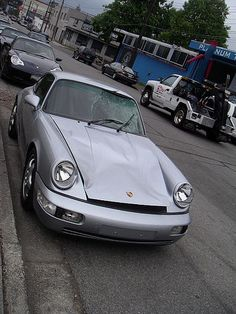Easy Branches - Porsche Carrera – looks like it hit a pedestrian