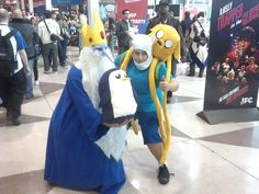 Adventure Time Finn & Jake with the Ice King & Gunter #adventuretime #iceking #finnandjake #cosplay