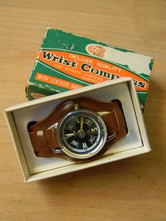 Vintage Wrist Compass  New In Box With by CuriosityShopper on Etsy