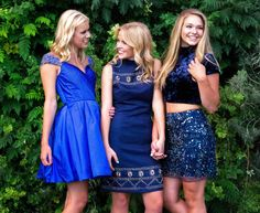 Sherri Hill Girls Homecoming Sweethearts Prom Friends Bridesmaid Inspiration Blue Short Ypsilon Dresses