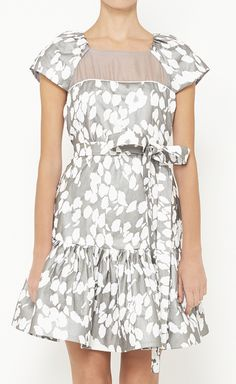 Alexandra Lind for Fiandaca Grey And White Dress