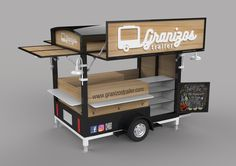 Ideas For Food Truck Remolque Food Cart Design, Food Truck Design, Food Trucks, Cool Truck Accessories, Coffee Food Truck, Vintage Coffee Shops, Mobile Food Cart, Mobile Coffee Shop, Pizza Truck