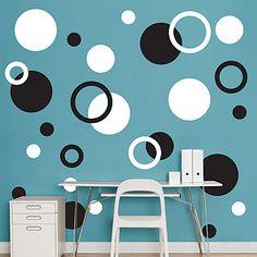 Black & White Polka Dots - Polka Dots - Home Decor Graphics
