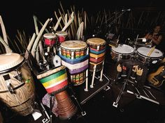 James Mack's Cirque Du Soleil percussion setup... necessarily impressive for a performance where rhythm and unique percussion is paramount...