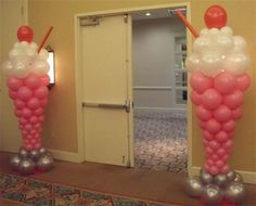 Milkshake balloons. Definitely going to attempt this for a future party.