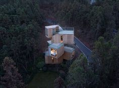 Completed in 2016 in Xiuing, China. Images by Chen Hao. From the architect. The Qiyun Mountain Tree House is located in the region of Xiuning County which is 33 kilometres south of Huangshan City, Anhui...