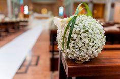 Hochzeitsdekoration für die Kirche