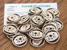 Sea Otter 10 pairs wooden supply for jewelry tag by CardNotions, $16.00