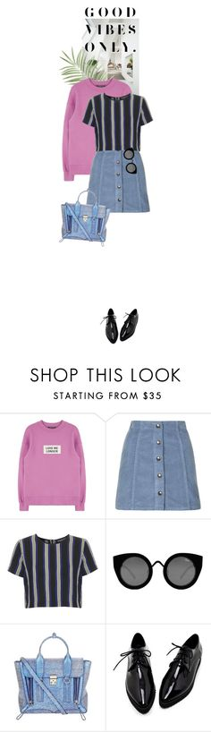 """""""Good Vibes"""" by dancingwithyou ❤ liked on Polyvore featuring Topshop, Quay, 3.1 Phillip Lim, women's clothing, women, female, woman, misses and juniors"""
