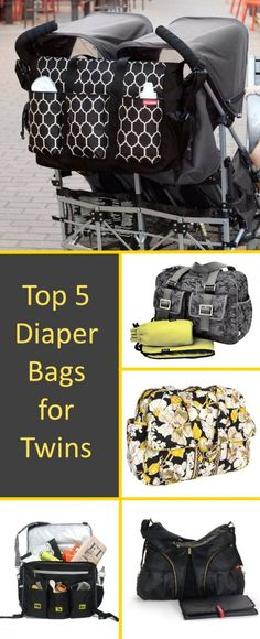 Top 5 Diaper Bags for twins - cute choices for such huge and spacious bags