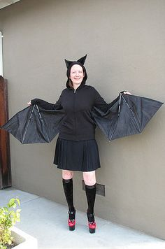 While an old umbrella can become bat wings. | 21 Unusual Halloween Costumes You Can Make Yourself