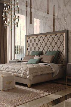 Modern Luxury Bedroom, Luxury Bedroom Design, Master Bedroom Interior, Bedroom Furniture Design, Luxurious Bedrooms, Modern Bedrooms, Contemporary Bedroom, Furniture Ideas, Interior Design