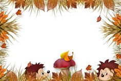 etiquettes,pancartes,tubes,scrap Page Borders, Borders And Frames, Hedgehog Craft, Diy And Crafts, Crafts For Kids, Puppet Crafts, Frame Background, Blog Pictures, Autumn Crafts