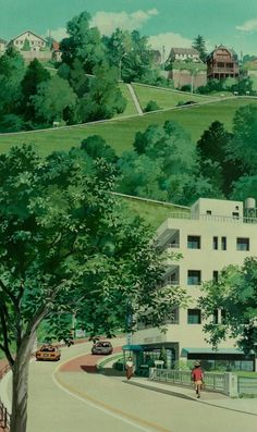 "ghibli-collector: ""Spirited Away Hayao Miyazaki Vs. Whisper of the Heart Yoshifumi Kondo "" Studio Ghibli Background, Animation Background, Studio Ghibli Art, Studio Ghibli Movies, Hayao Miyazaki, Japon Illustration, Castle In The Sky, Scenery Wallpaper, Howls Moving Castle"