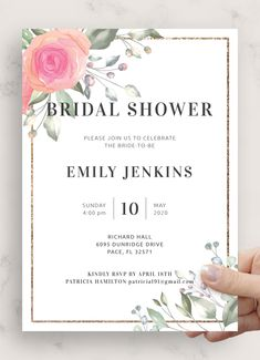 Floral Bridal Shower Invitation template is designed to help you create beautiful invitations for your pre-wedding celebration and host a memorable bridal shower party This invitation template is 100% editable You can customize it to your needs and preferences via a FREE online editor that doesn't require any coding or designer skills Bridal Shower Invitation Wording, Floral Wedding Invitations, Invitation Ideas, Baby Shower Invitations, Bridal Shower Party, Bridal Shower Rustic, Floral Baby Shower, Coding, Shower Invitation