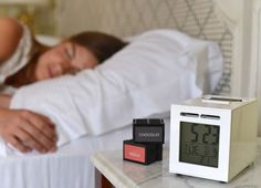 This new crowd-funded alarm will gently coax you up with the aroma of your choice. If after two minutes you're still not awake, an audible alarm will sound. Wake up to the smell of money, if that suits you, or choose a more reasonable scent, like peppermint, bacon, orange juice, or croissant. SensorWake