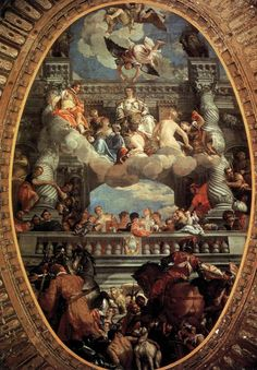 Apotheosis of Venice by VERONESE, Paolo #art