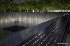 The 9-11 memorial in New York, due to open this year on the tenth anniversary. It's heart wrenching and beautiful.