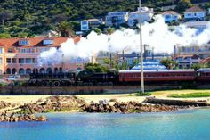 Catch a steam train ride from Cape Town with… Heart Place, Cape Town South Africa, Tourist Spots, Train Rides, Great Places, Places To Visit, Around The Worlds, Ocean, Busses
