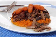 Paleo Pot Roast with Sweet Mashed Potatoes #PaleoNewbie