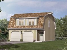 apartment over garage gambrel roof with upper deck - Google Search