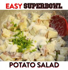 Easy SuperBowl Potato Salad Recipe! — The Queen of Swag!