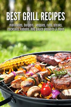 Best Grill Recipes - amazing cookout recipes including the b. Best Grill Recipes, Grilled Steak Recipes, Summer Grilling Recipes, Grilled Meat, Grilling Ideas, Meat Recipes, Backyard Cookout, Cookout Food, Steak Butter
