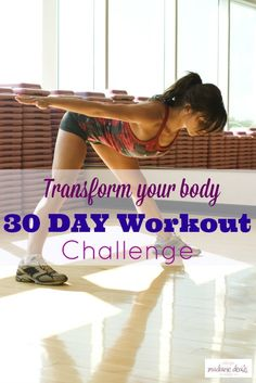 Transform your body in 30 days with this 30-Day Workout Challenge!