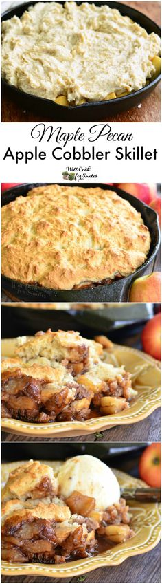 Maple Pecan Apple Cobbler Skillet. This apple cobbler is a take on a classic comforting dessert made even more delicious with maple syrup and pecans.