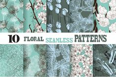Check out Floral Seamless Patterns by Chantall on Creative Market