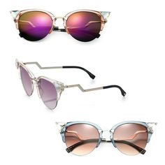 51ed28aa73 10 Best Spring Trends—Sunglasses. Trending SunglassesSpring TrendsSpring  2015Cat Eye SunglassesEye GlassesZig ZagFendiSunniesEyewear