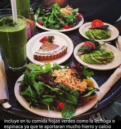 Las hojas verdes aporte esencial de hierro y calcio