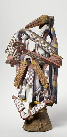 Africa | Dance crest from the Baga people of Tatema, Boffa, Guinea | Early 20th century | Wood and pigment