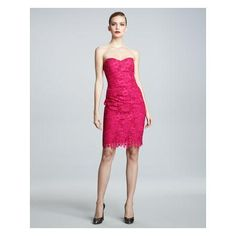 Women's David Meister Signature Strapless Lace Cocktail Dress