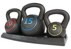 KLB Sport Vinyl Coated Kettlebell Weights Set with Tray for Cross Training, MMA Training, Home Exercise, Fitness Workout : Sports & Outdoors Athletic clothing fashion workout gear exercise equipment healthy lifestyle living weight lifting muscle Strength Training Equipment, Mma Training, Kettlebell Training, Body Weight Training, Cross Training, No Equipment Workout, Training Workouts, Interval Training, Lean Body Workouts